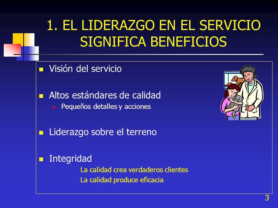 1. EL LIDERAZGO EN EL SERVICIO SIGNIFICA BENEFICIOS
