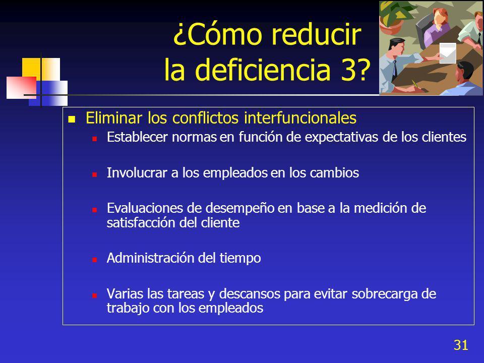 ¿Cómo reducir la deficiencia 3