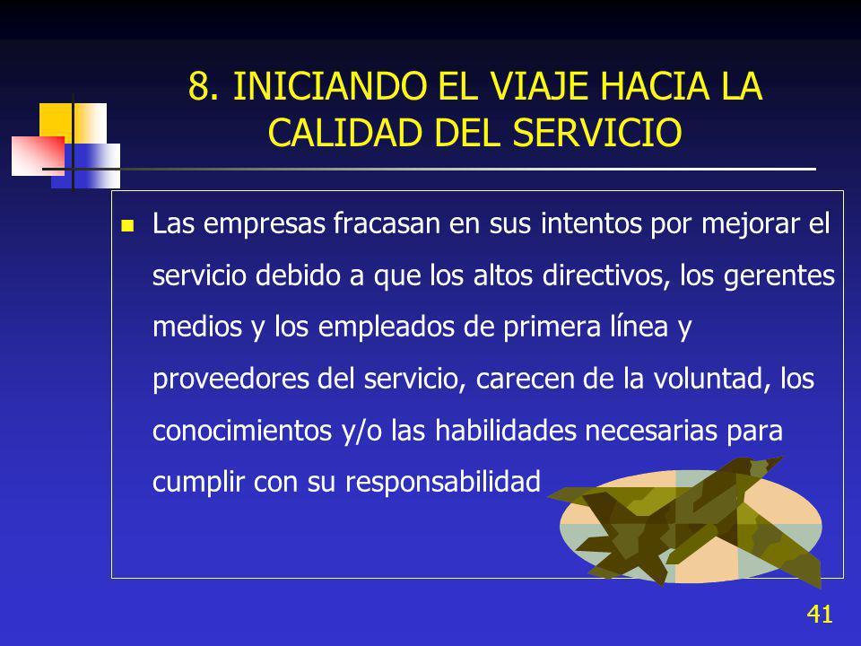 8. INICIANDO EL VIAJE HACIA LA CALIDAD DEL SERVICIO