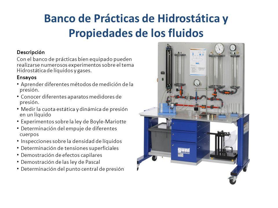 Banco de Prácticas de Hidrostática y Propiedades de los fluidos