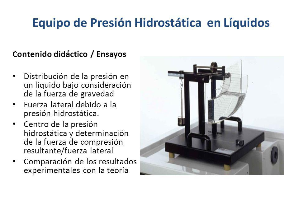 Equipo de Presión Hidrostática en Líquidos