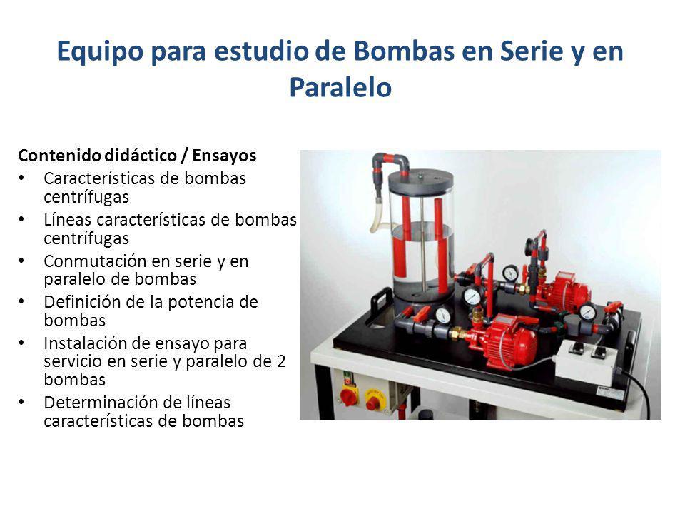 Equipo para estudio de Bombas en Serie y en Paralelo