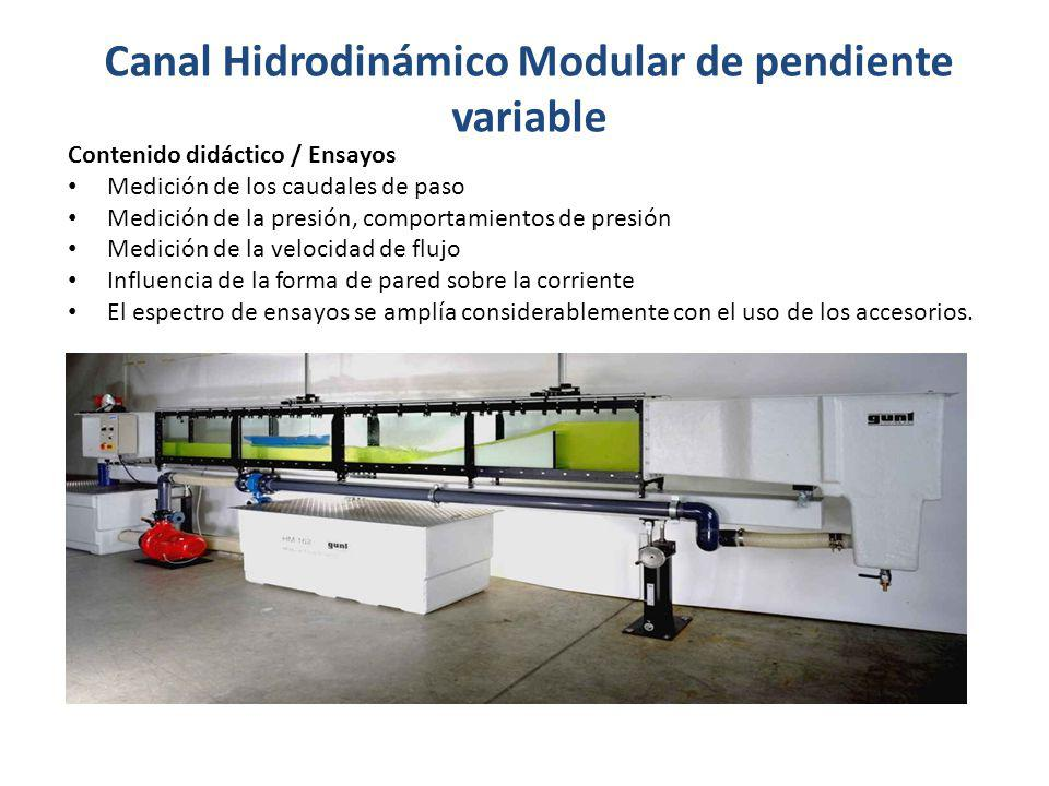 Canal Hidrodinámico Modular de pendiente variable