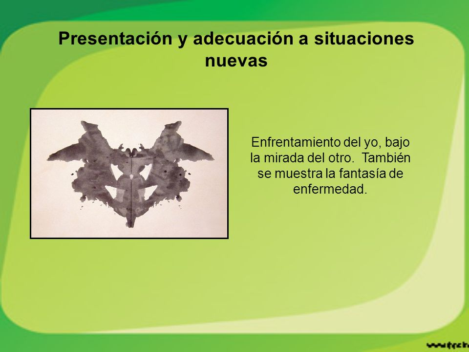 Presentación y adecuación a situaciones nuevas