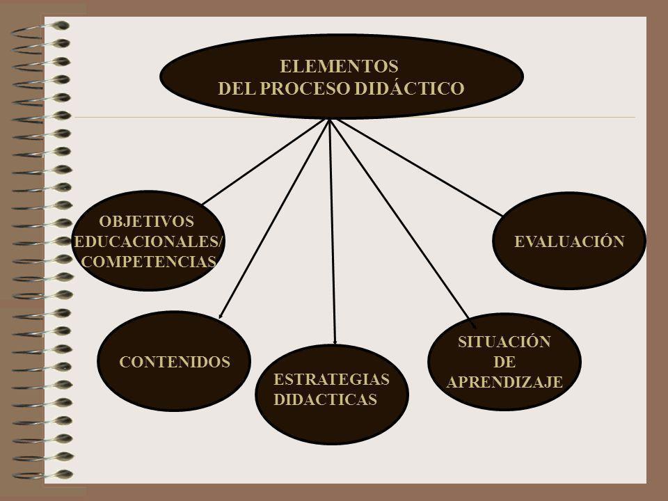 ELEMENTOS DEL PROCESO DIDÁCTICO