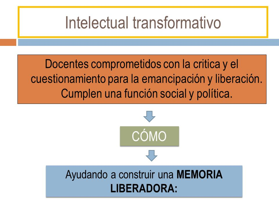 Intelectual transformativo