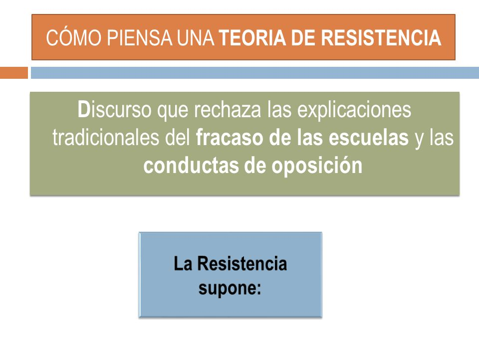 CÓMO PIENSA UNA TEORIA DE RESISTENCIA