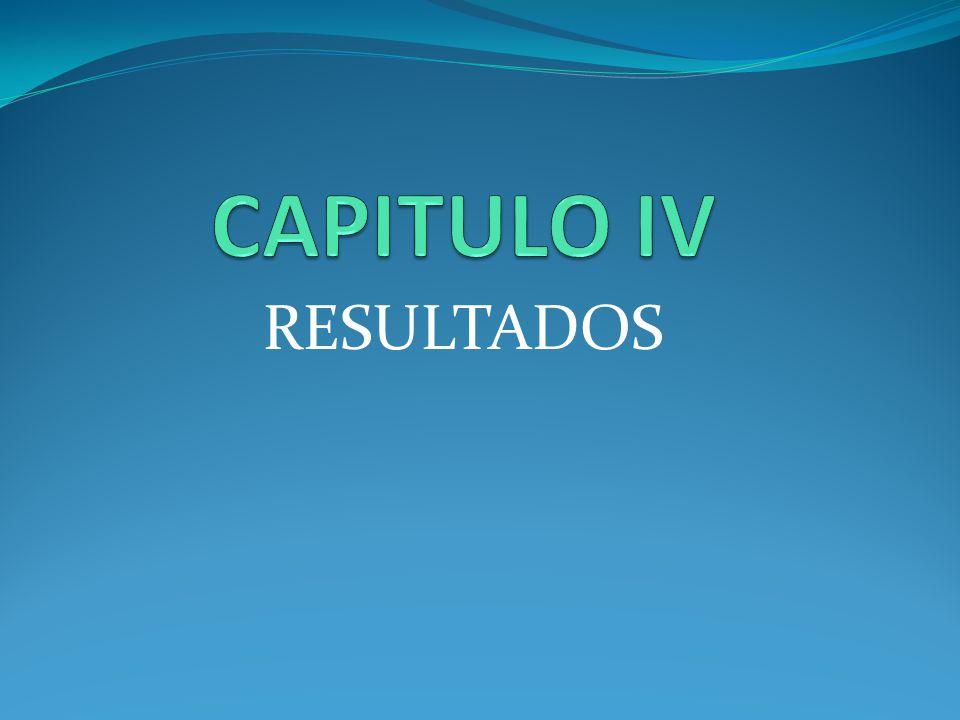 CAPITULO IV RESULTADOS