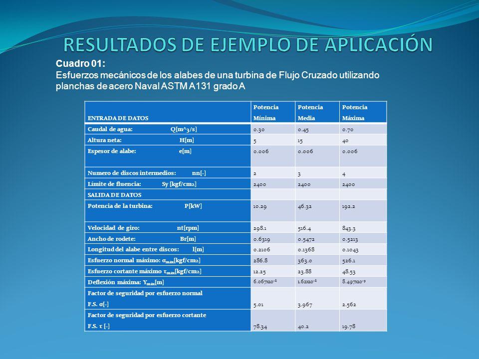 RESULTADOS DE EJEMPLO DE APLICACIÓN