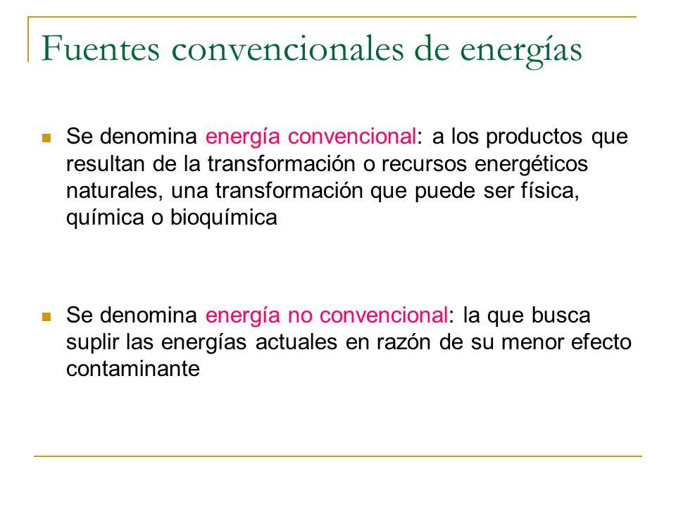 Fuentes convencionales de energías