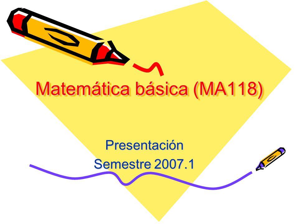 Matemática básica (MA118)