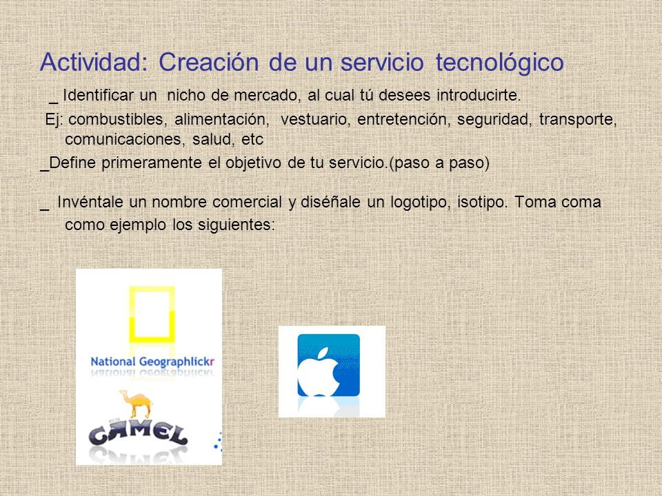 Actividad: Creación de un servicio tecnológico