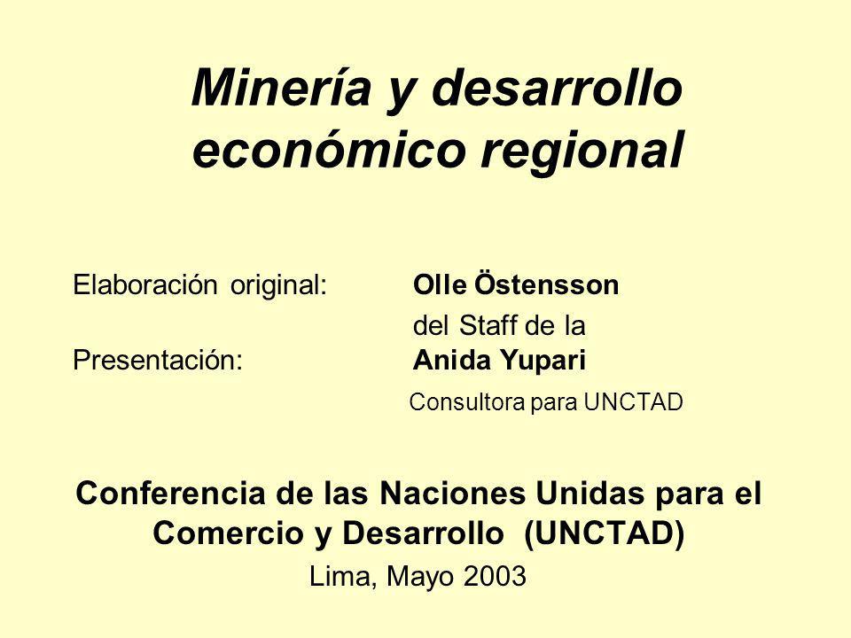 Minería y desarrollo económico regional