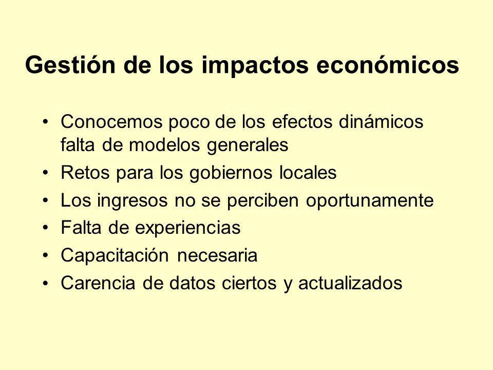 Gestión de los impactos económicos