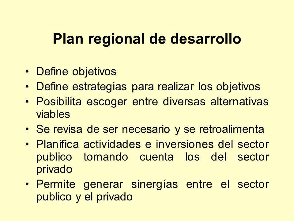 Plan regional de desarrollo