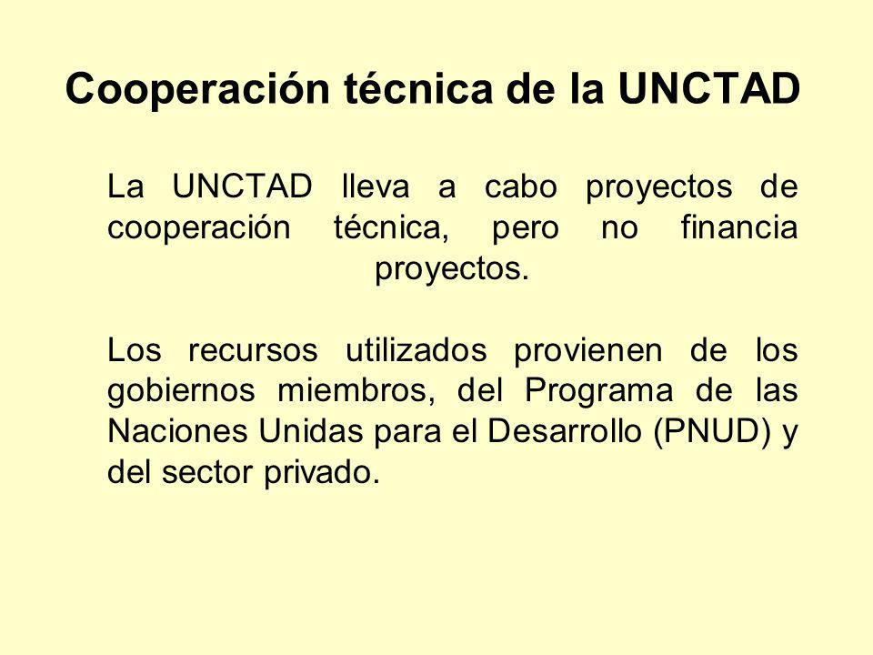Cooperación técnica de la UNCTAD