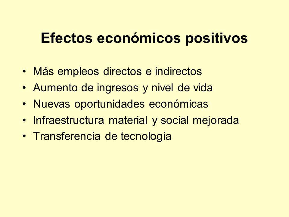 Efectos económicos positivos