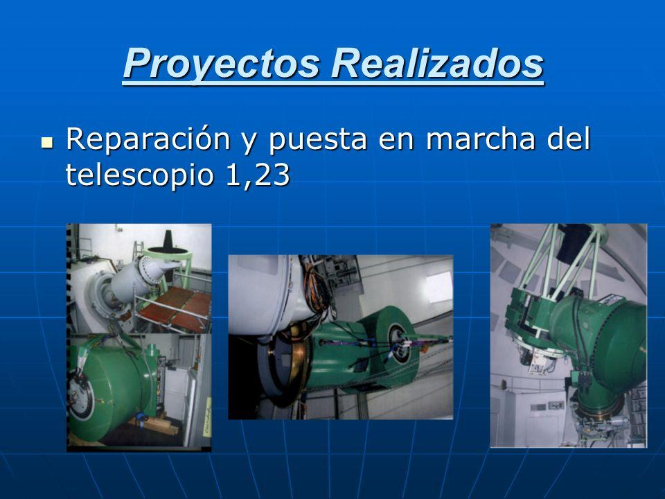 Proyectos Realizados Reparación y puesta en marcha del telescopio 1,23
