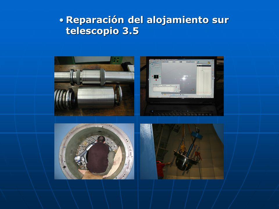 Reparación del alojamiento sur telescopio 3.5