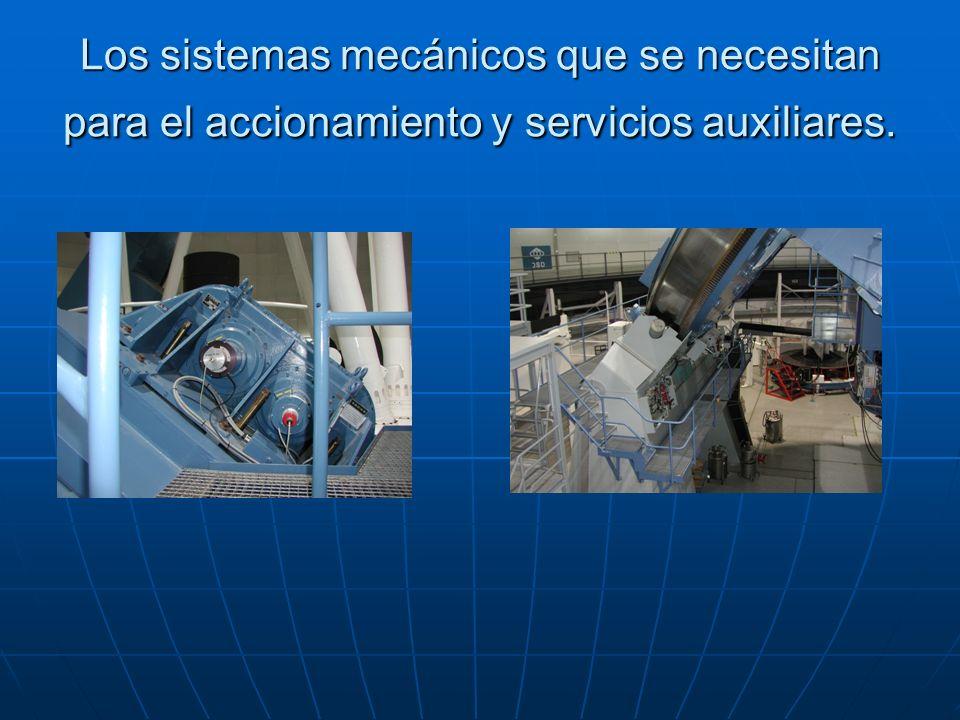 Los sistemas mecánicos que se necesitan para el accionamiento y servicios auxiliares.