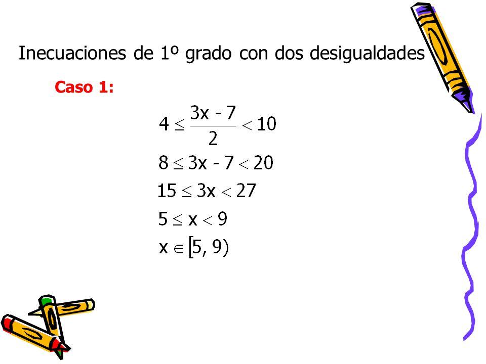 Inecuaciones de 1º grado con dos desigualdades