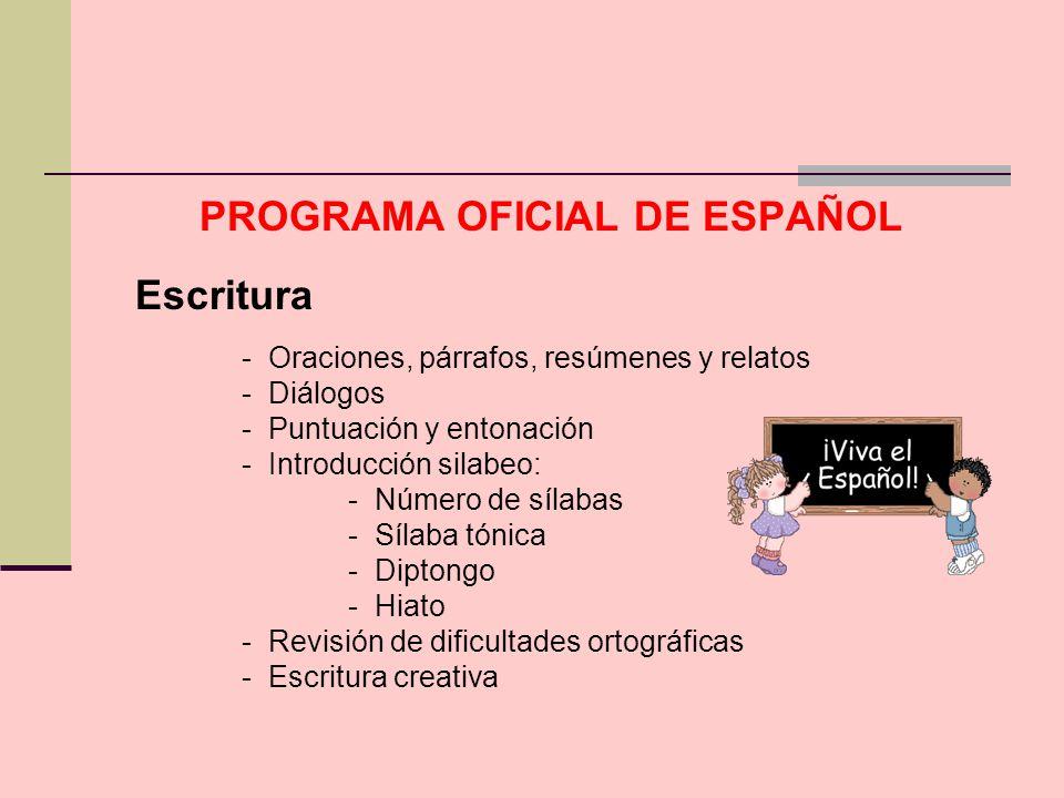 PROGRAMA OFICIAL DE ESPAÑOL