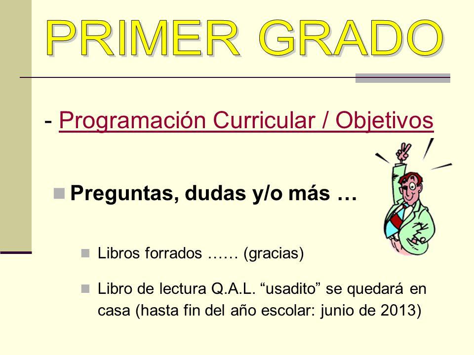 - Programación Curricular / Objetivos