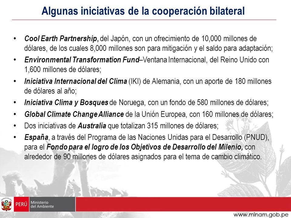 Algunas iniciativas de la cooperación bilateral