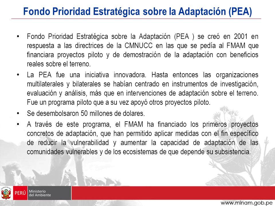 Fondo Prioridad Estratégica sobre la Adaptación (PEA)