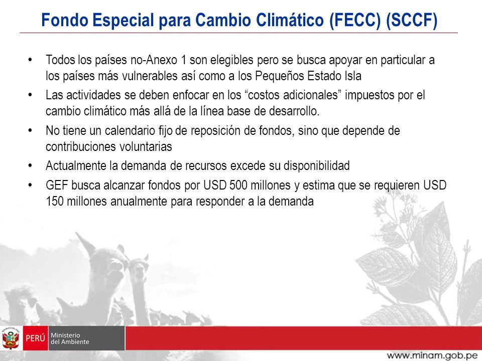 Fondo Especial para Cambio Climático (FECC) (SCCF)