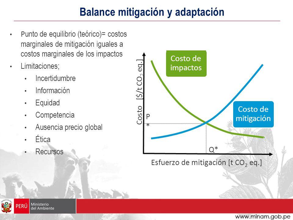 Balance mitigación y adaptación