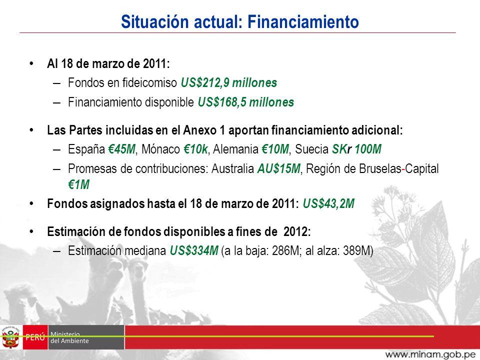 Situación actual: Financiamiento