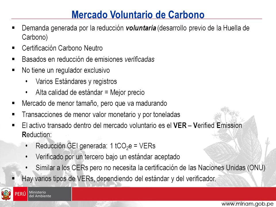 Mercado Voluntario de Carbono