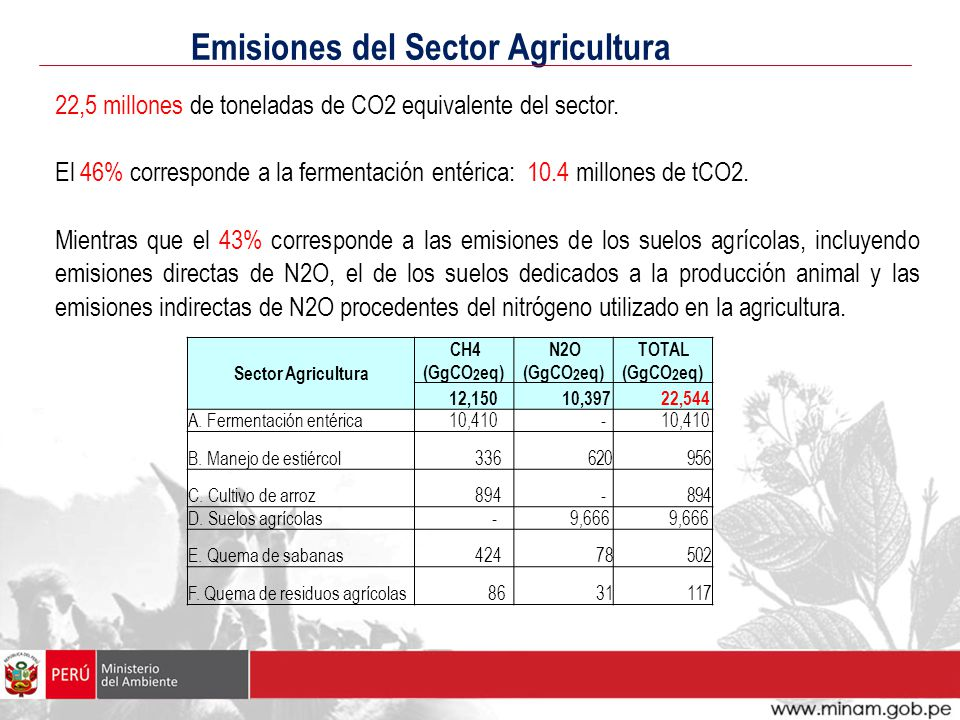 Emisiones del Sector Agricultura