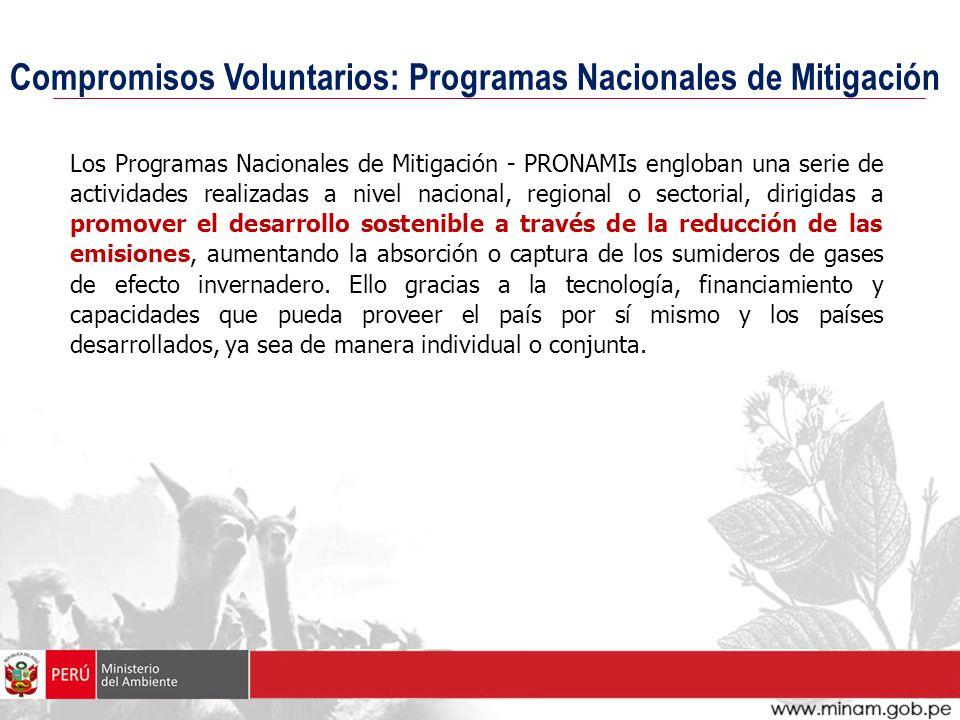 Compromisos Voluntarios: Programas Nacionales de Mitigación