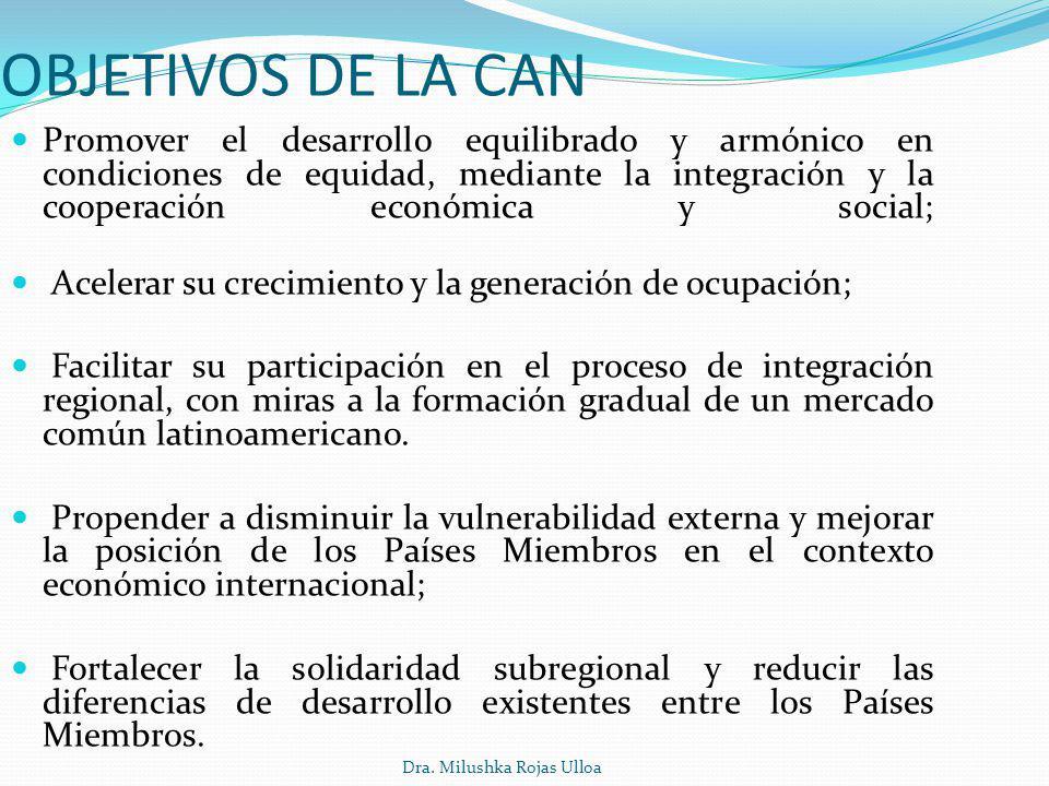 OBJETIVOS DE LA CAN