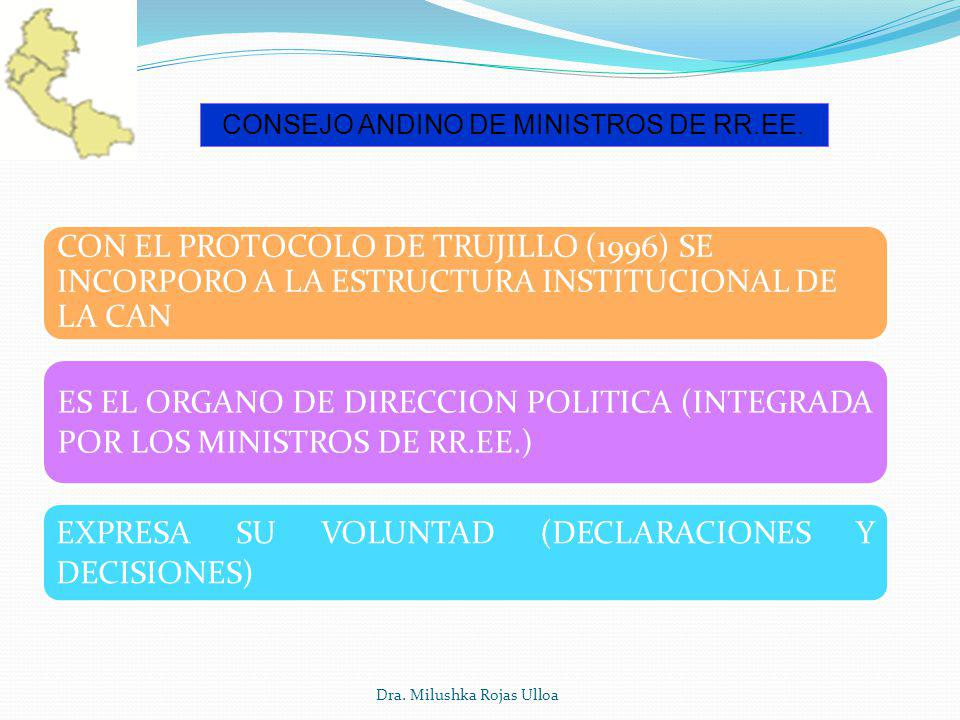CONSEJO ANDINO DE MINISTROS DE RR.EE.