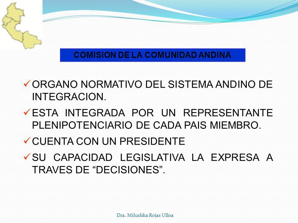 COMISION DE LA COMUNIDAD ANDINA