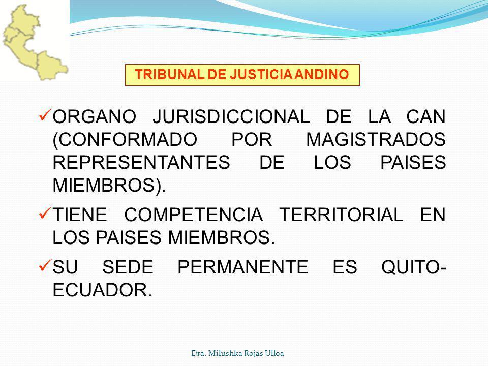 TRIBUNAL DE JUSTICIA ANDINO