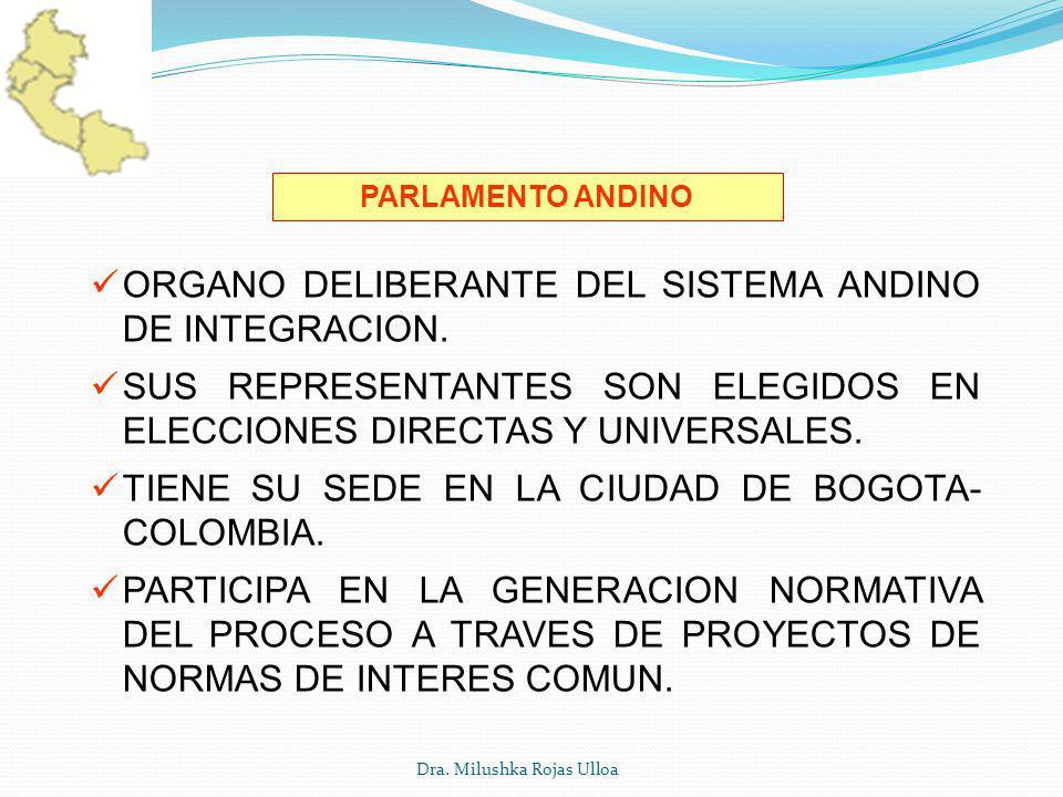 ORGANO DELIBERANTE DEL SISTEMA ANDINO DE INTEGRACION.