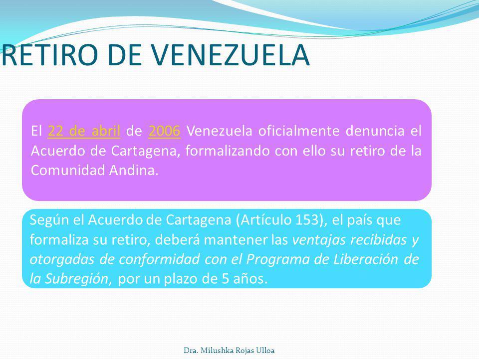 RETIRO DE VENEZUELA