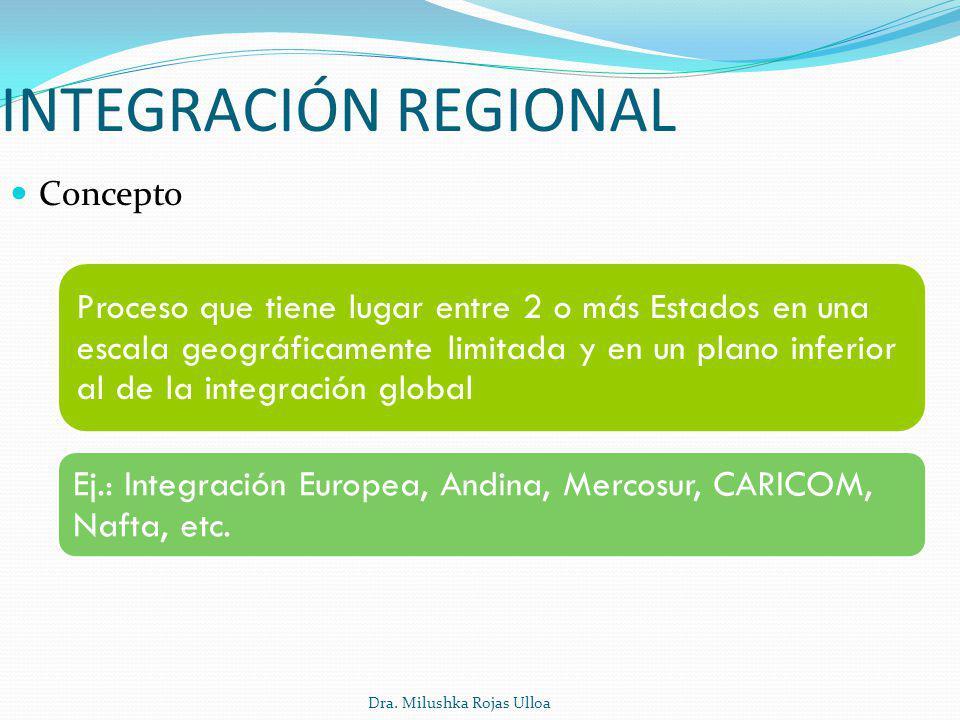 INTEGRACIÓN REGIONAL Concepto.