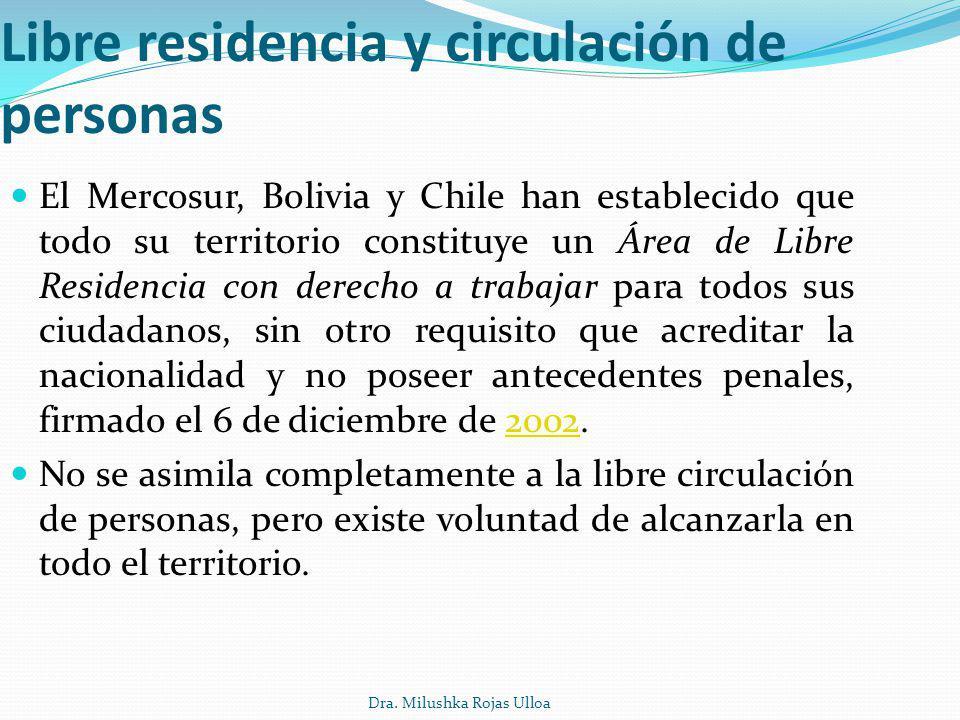 Libre residencia y circulación de personas