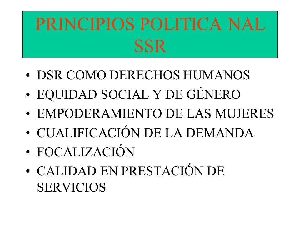 PRINCIPIOS POLITICA NAL SSR