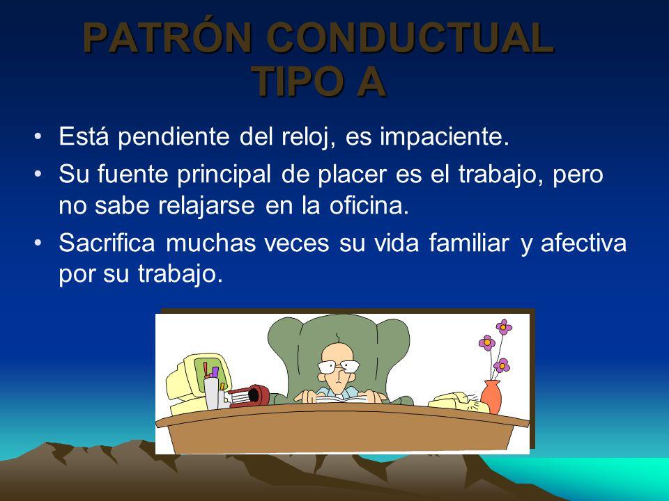 PATRÓN CONDUCTUAL TIPO A