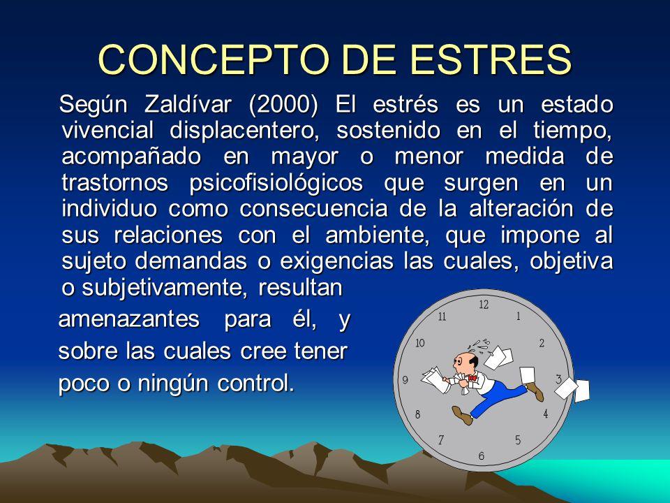 CONCEPTO DE ESTRES