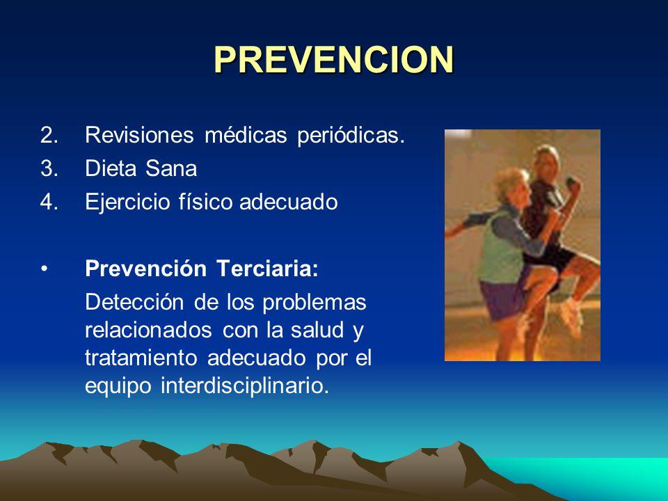 PREVENCION Revisiones médicas periódicas. Dieta Sana