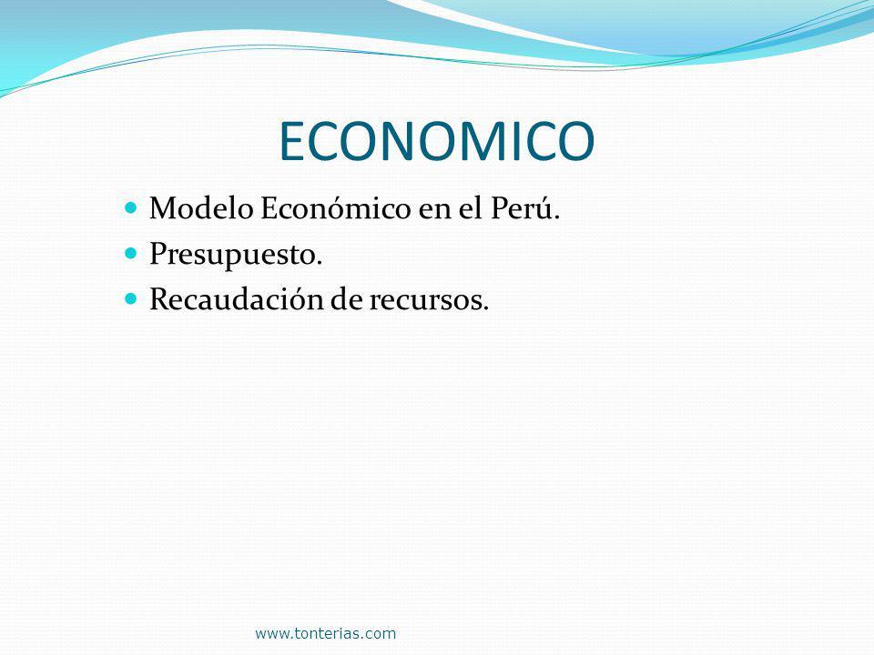 ECONOMICO Modelo Económico en el Perú. Presupuesto.