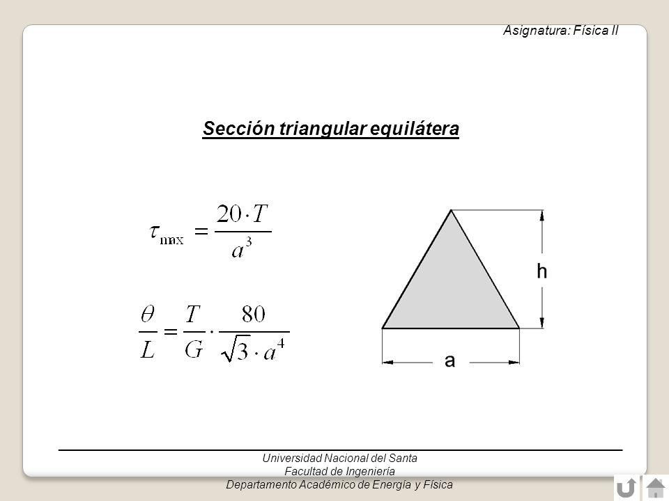 Sección triangular equilátera