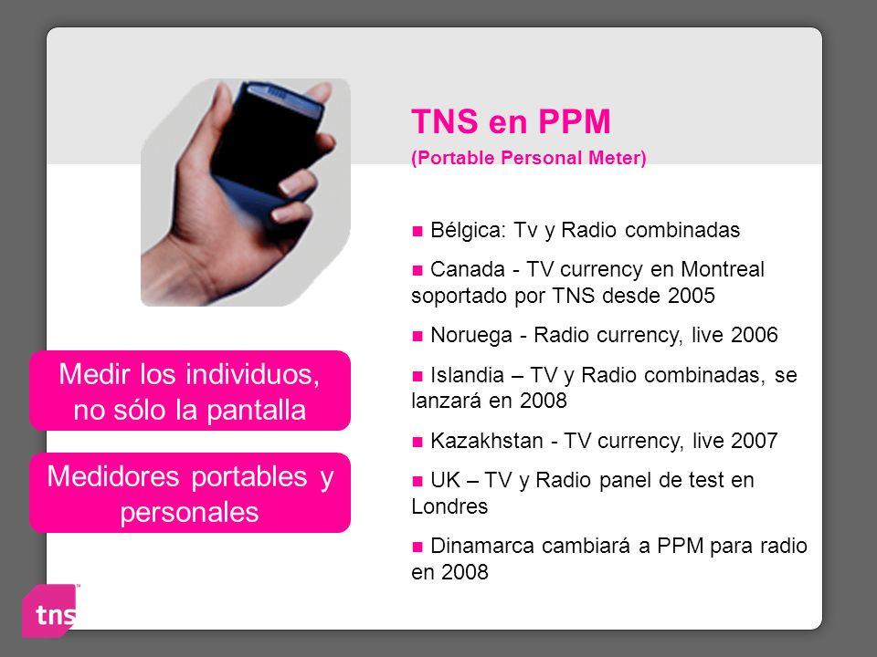 TNS en PPM Medir los individuos, no sólo la pantalla